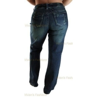 China Women's Basic Denim Jeans - Plus Size on sale