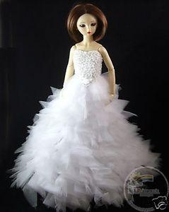 China Dollfie SD Outfit White Bridal Wedding Dress Grown on sale
