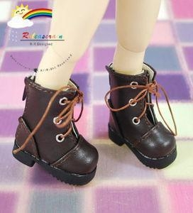 China Dollfie Yo-SD Shoes Leather Lace-Up Boots #LY2 Choc. on sale