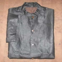 Black silk short sleeve men tang clothing