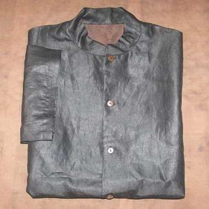 China Black silk short sleeve men tang clothing on sale