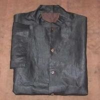 Black silk short sleeve men tang clothing