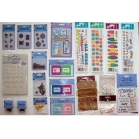 Free Shipping! Wholesale Lot of 100 Piece Craft &Scrapbooking Supply Assortment
