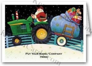 China Christmas Cards Farm Tractor Logo Card on sale