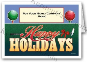 China Christmas Cards Golf Ball Custom Logo Holiday Card on sale
