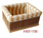 Cloth-made bamboo basket