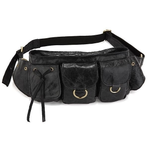 China 3014A Vintage Leather Fashion Men Waist Bag Fanny Pack Purse Accessories Wallet Pocket on sale