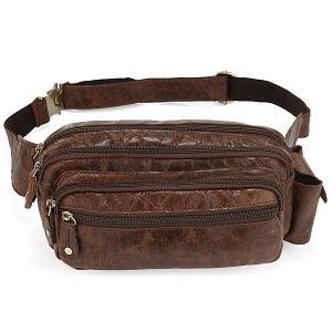 China 7067R Rare Vintage Leather Men Waist Bag Fanny Pack Accessories Wallet Phone Pocket on sale