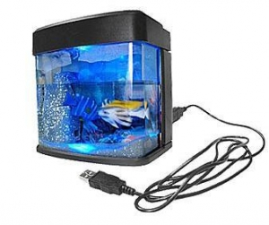 China Mini USB Desktop Aquarium Fish Tank with Light on sale