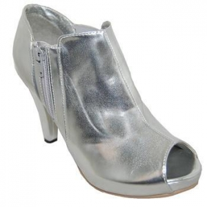 China SILVER PATENT WOMEN ANKLE BOOT on sale