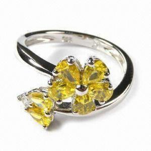China diamond gemstone rings on sale