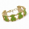 China Gold Plated Gemstone Bangle for sale