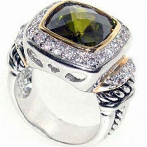 China 925 Sterling Silver Gemstone Ring on sale