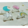 China Acrylic Stone Adjustable Rings for sale