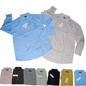 China Men's long sleeve shirt, one pocket in left check. button opening sleeve on sale