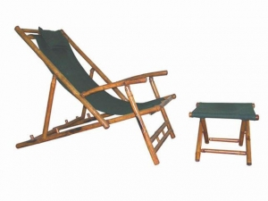 China Lazy Foot Chaise Longue with Stool on sale