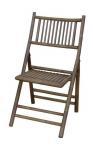 Armless Half Back Folding Chair