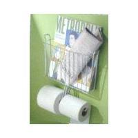 China CHROME Toilet Tank MAGAZINE RACK Tissue Paper HOLDER NU on sale