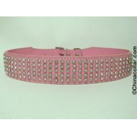 China Rhinestone Dog Collar Leather Collar on sale