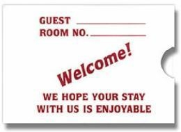 China In-Room Amenities Key card Envelope on sale