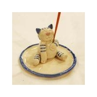 China Incense Incense Stick Holder - Cheerful Cat on sale