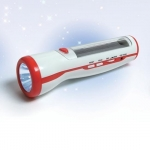Solar torch with FM radio