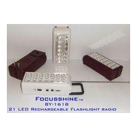 China BY-1618 21 LED Emergency light with FM auto scan radio on sale