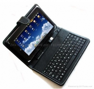 China ZT-180/FLYTOUCH 10.2 inch Google android Tablet PC Leather USB keypad Case on sale