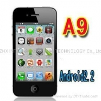 iphone 4 copy A9 Google android 2.2 GPS wifi 3.5 Super Amoled mobile phone