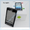 China A5 3.5inch Android 2.2 google phone TV WIFI GPS dual sim card Quadband phone for sale