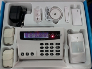 China LCD wireless Intelligent GSM Alarm System Home Alarm System on sale