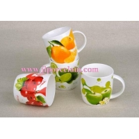 fruit design porcelain mug#JL0058