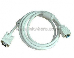 China SUPER VGA Male to Female MONITOR/LCD/PROJECTOR CABLE White on sale