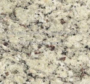 China Brazil Yellow Granite Cream Violet Vanity Top on sale