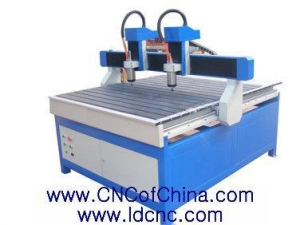China Advertising CNC Router LD-1315 Advertising Two heads CNC Router on sale
