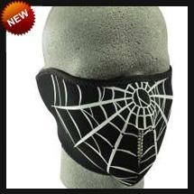 China Neoprene Face Masks Half Spider Web Neoprene Face Mask on sale