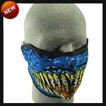 China Neoprene Face Masks Half Blue Demon Neoprene Face Mask on sale