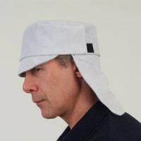 Peaked Cap with Back Flap - Economy Chrome Leather