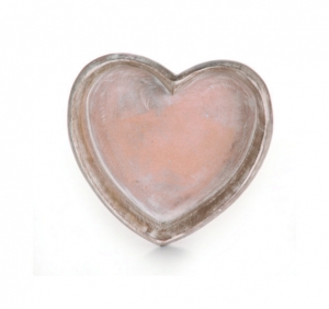 China Wooden Heart Bowl Small on sale