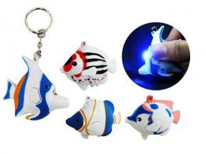 China Flashing Fish Keychain With Sound on sale