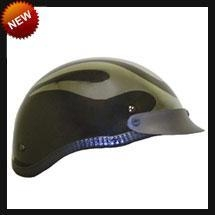 China DOT Gloss Chrome Flame Shorty Motorcycle Helmet on sale