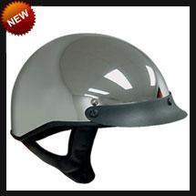 China DOT Chrome Shorty Motorcycle Helmet on sale