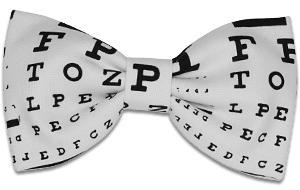 China Eye Test Chart Bow Tie on sale