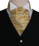 Gold Swirl Paisley Pattern Cravat