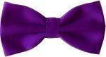 Purple Bow Tie + Handkerchief Set