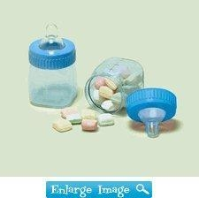 China Browse All 50+ Themes Blue Fillable Baby Bottle Favor Containers on sale