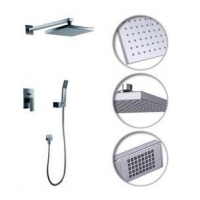China Contemporary Shower Faucet with 8 inch Shower head + Hand Shower on sale
