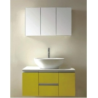 Yellow PVC bathroom cabinets