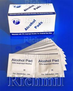China 100 x 70% Isopropyl Alcohol Sterilising Swabs / Wipes on sale