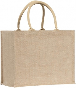 China Conference/Exhibition bags Pluckley' Natural Jute Tote/shopper c/w cotton handles on sale